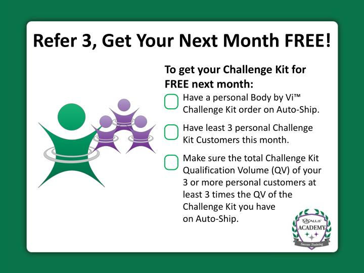 Refer 3, Get Your Next Month FREE!