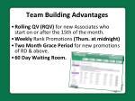 team building advantages