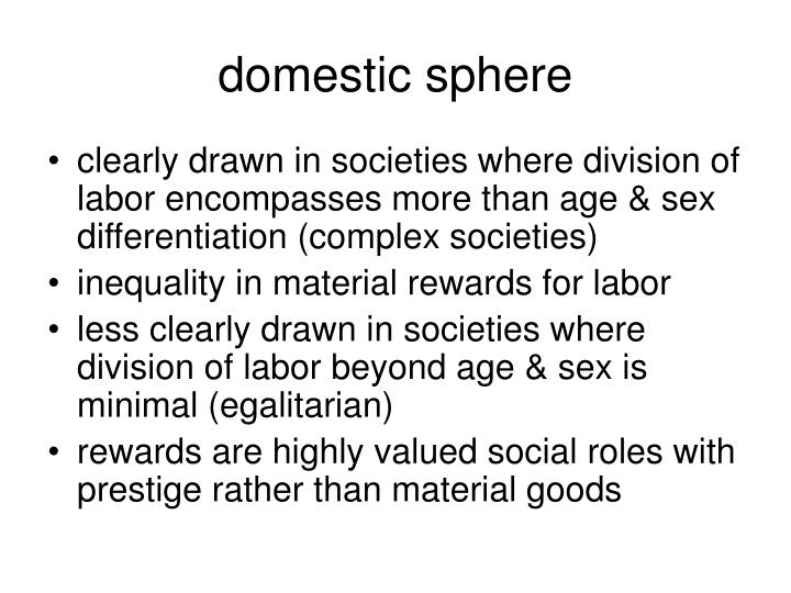 domestic sphere