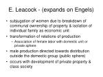 e leacock expands on engels