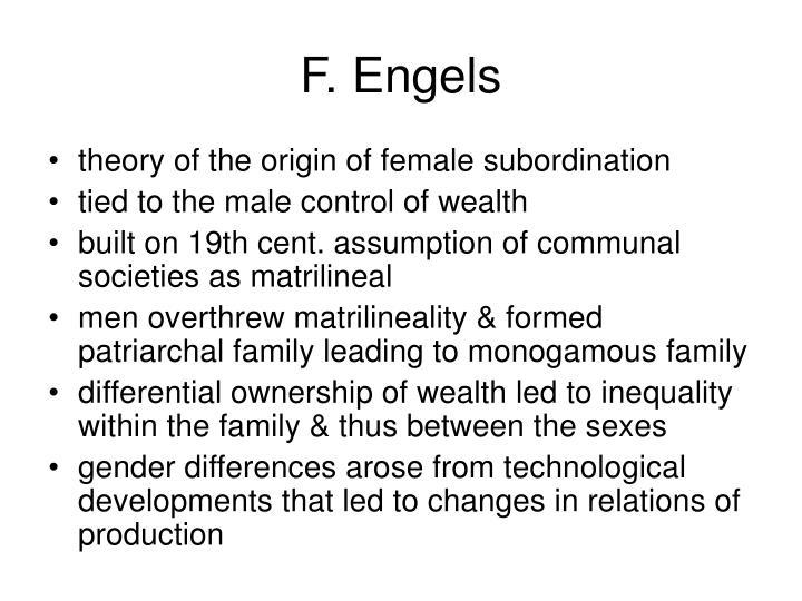 F. Engels