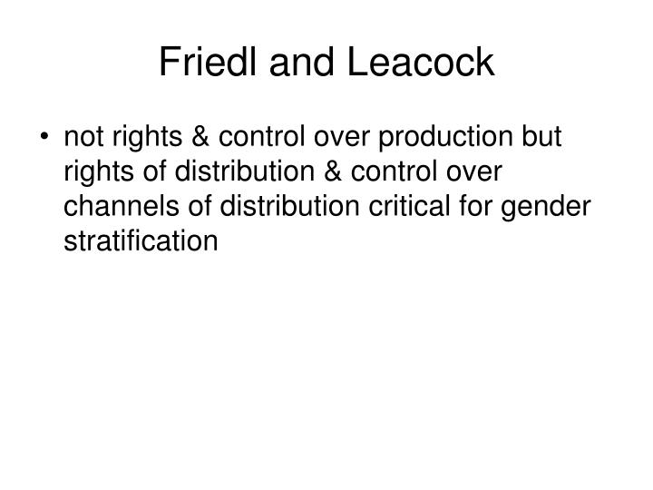 Friedl and Leacock