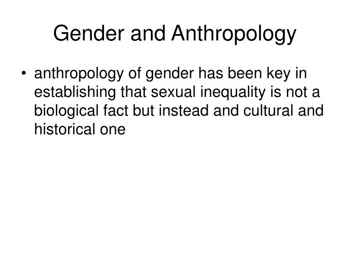 Gender and anthropology1