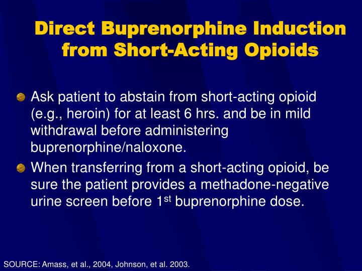 Direct Buprenorphine Induction from Short-Acting Opioids