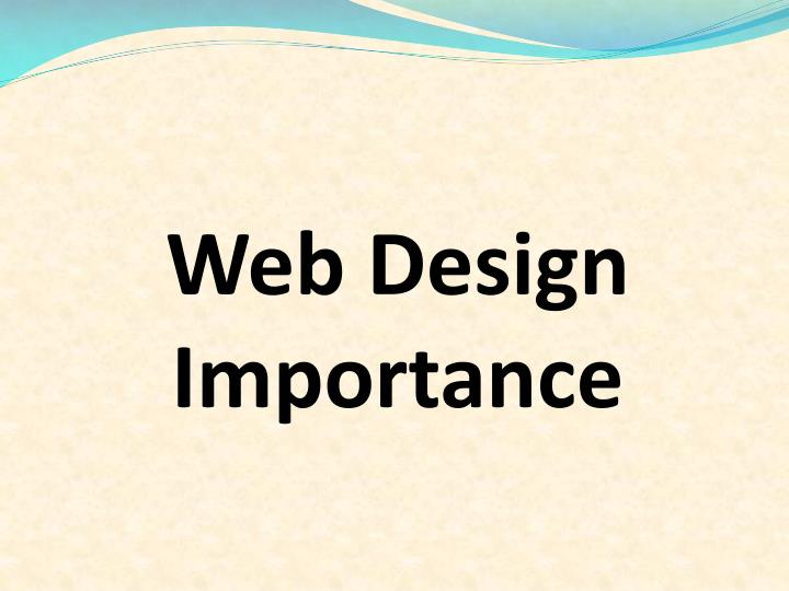 Web design importance l.jpg