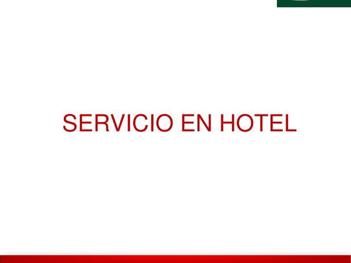 SERVICIO EN HOTEL