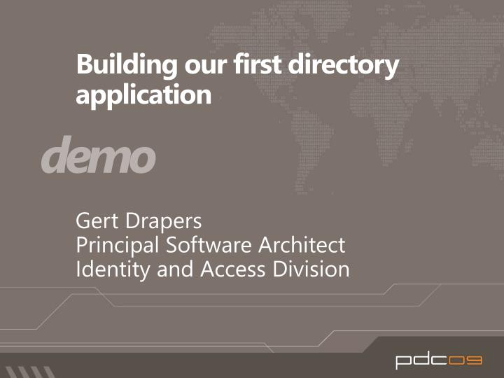 Building our first directory application