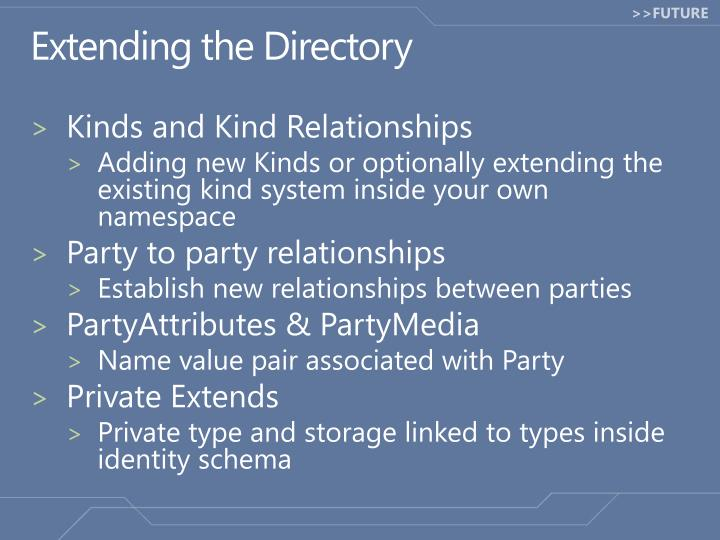 Extending the Directory
