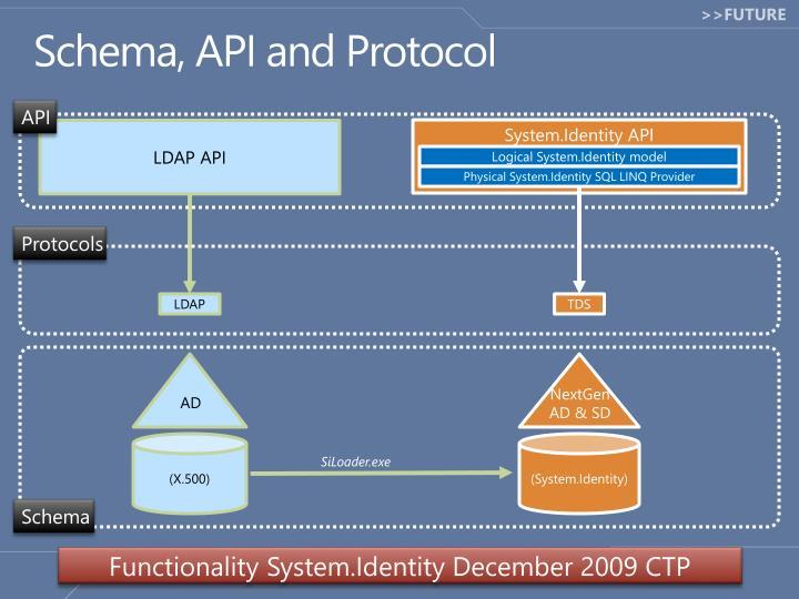 Schema, API and Protocol