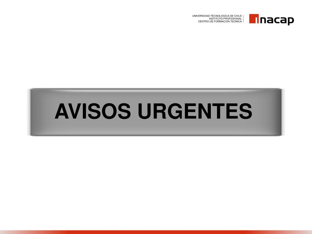 AVISOS URGENTES