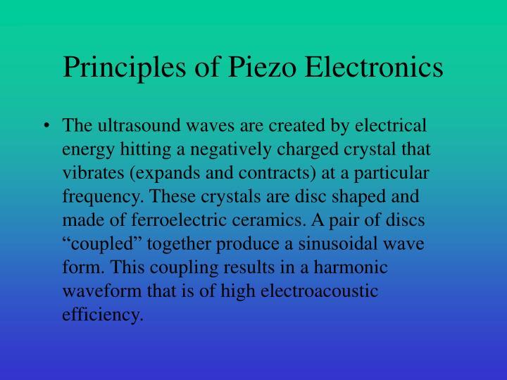 Principles of Piezo Electronics