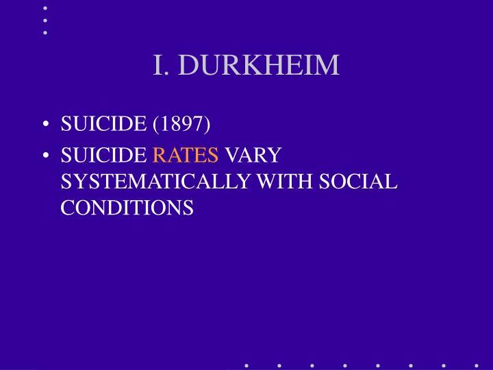 I. DURKHEIM