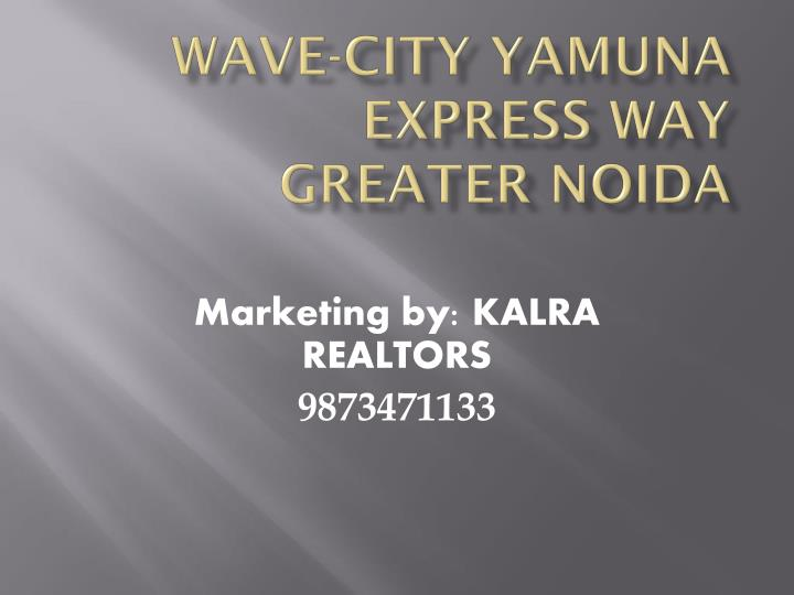 Wave city yamuna express way greater noida