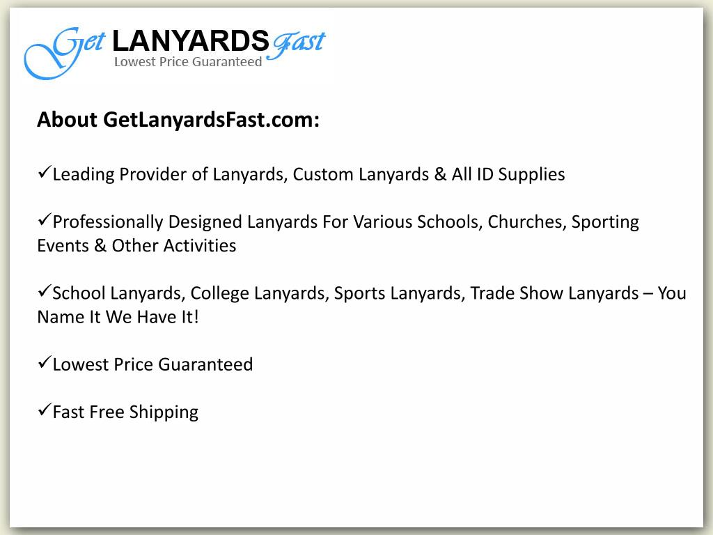 About GetLanyardsFast.com: