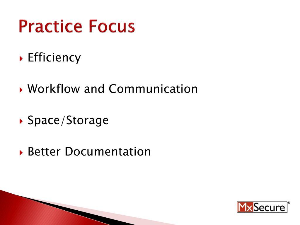 Practice Focus