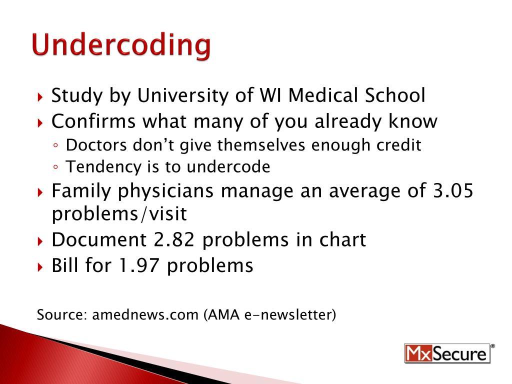 Undercoding