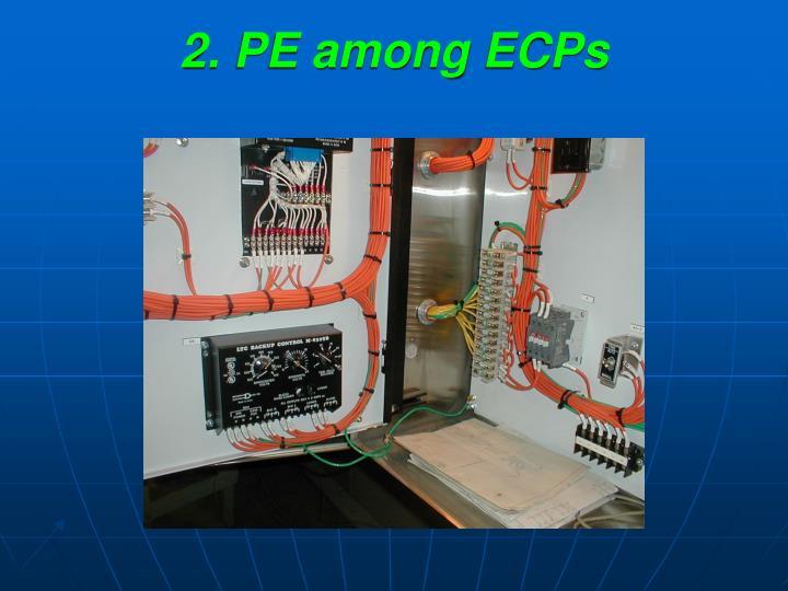 2. PE among ECPs