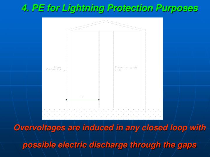4. PE for Lightning Protection Purposes