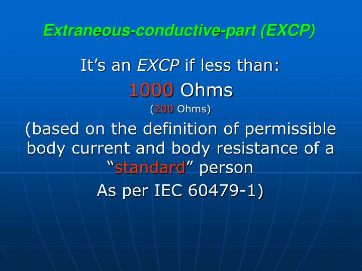 Extraneous-conductive-part (EXCP)