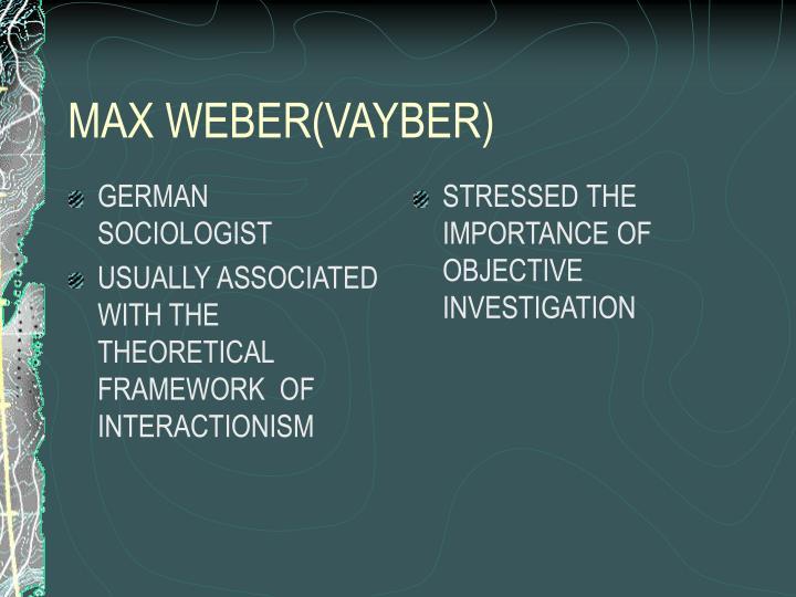 GERMAN SOCIOLOGIST