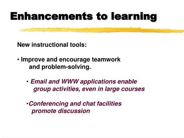 Enhancements to learning