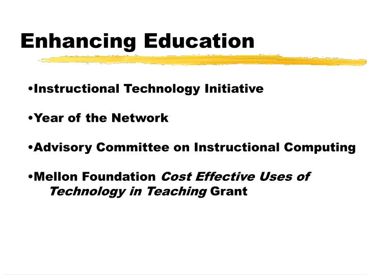 Enhancing Education