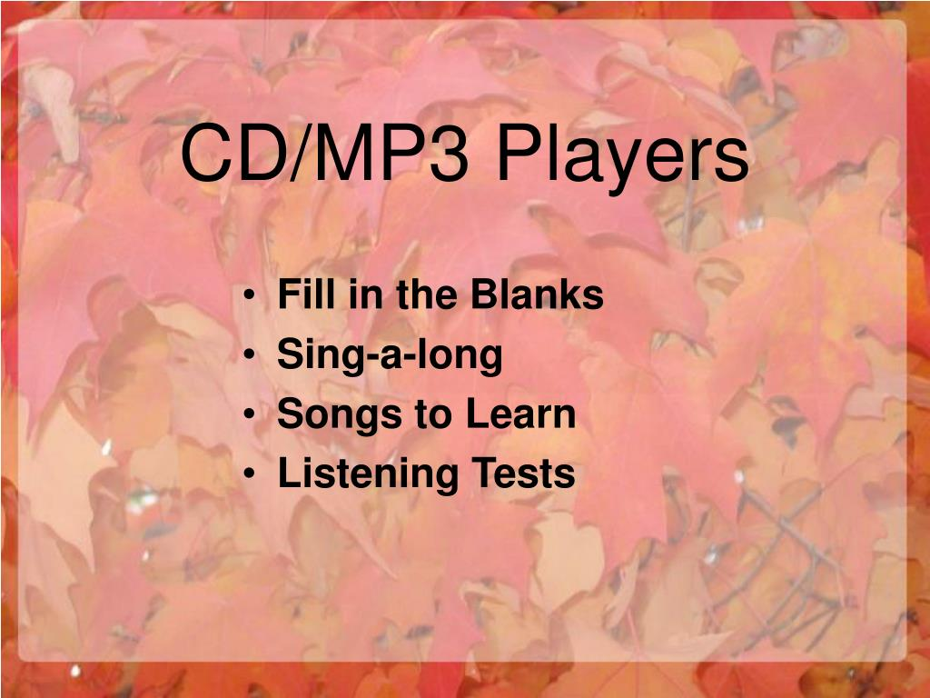 CD/MP3 Players