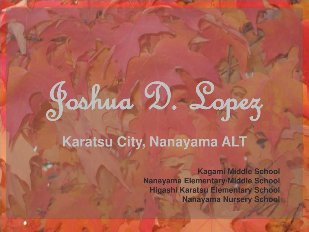 Joshua D. Lopez