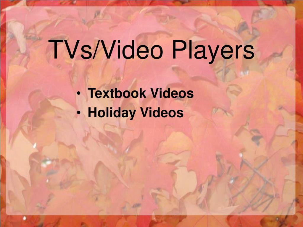 TVs/Video Players