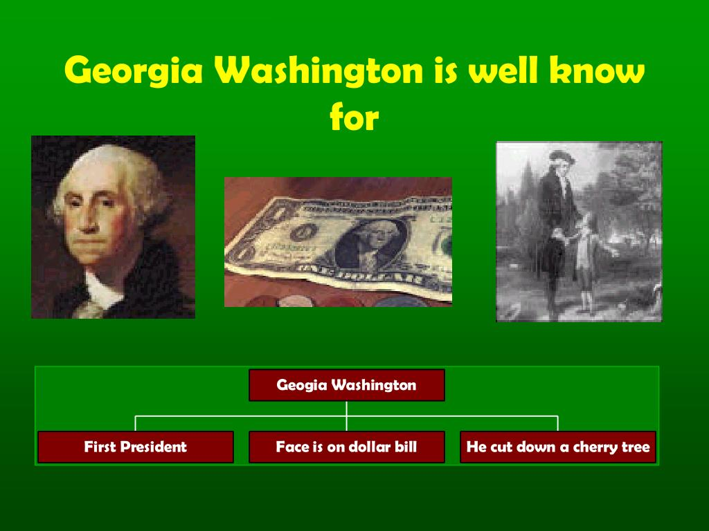 Georgia Washington is well know for