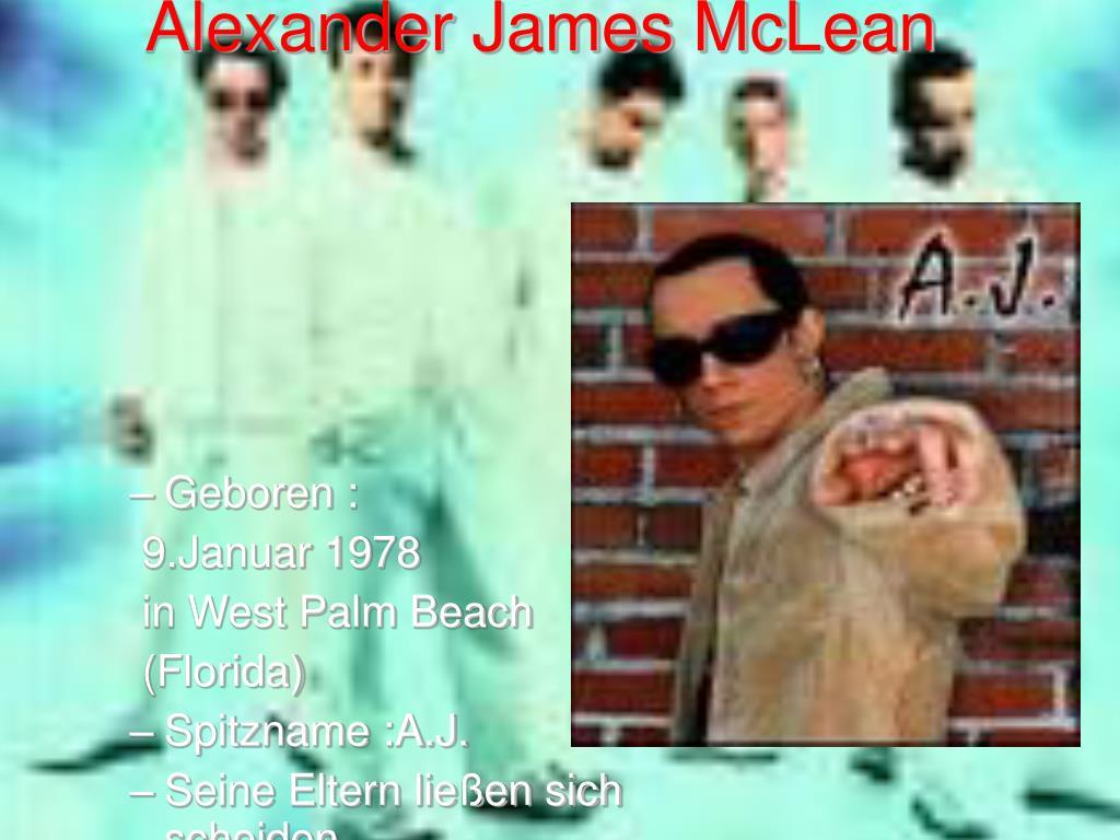 Alexander James McLean