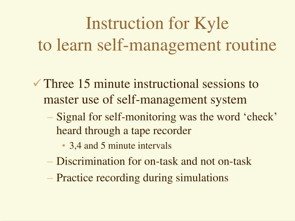 Instruction for Kyle