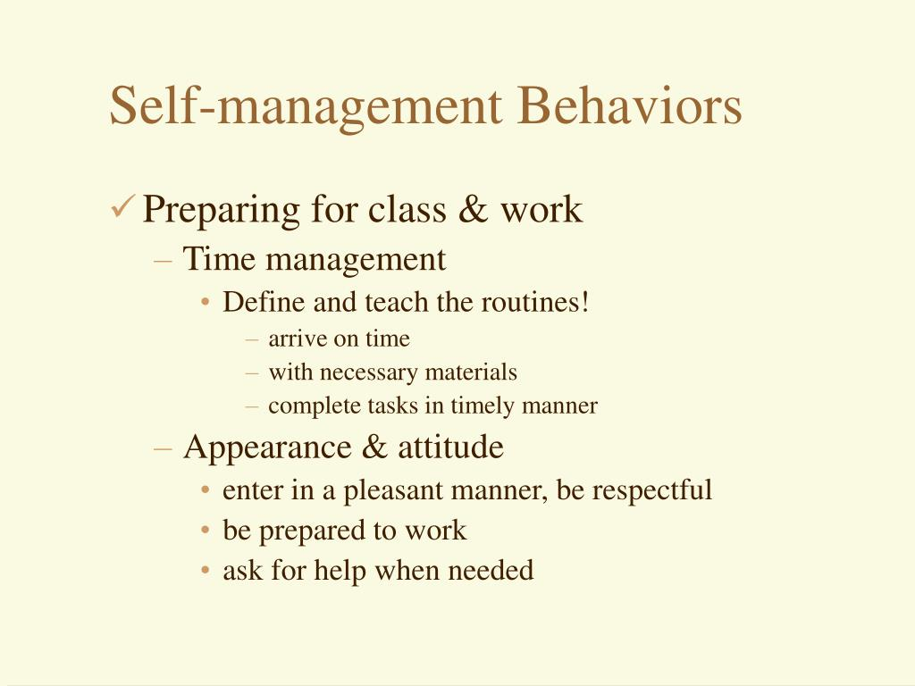 Self-management Behaviors
