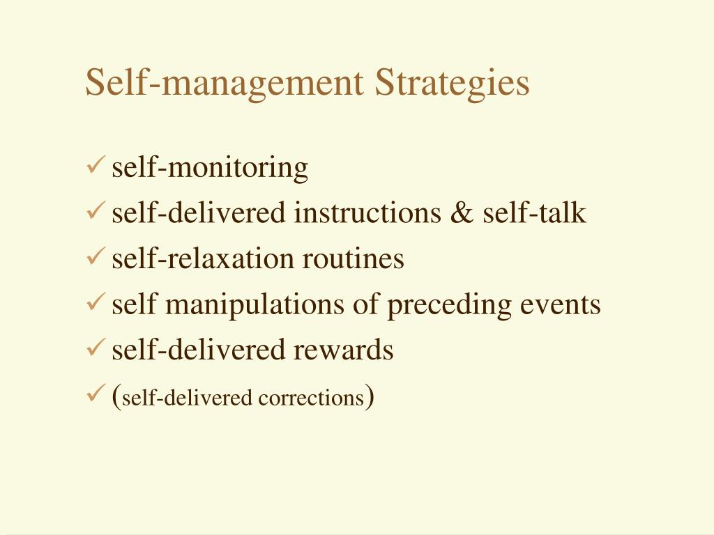 Self-management Strategies