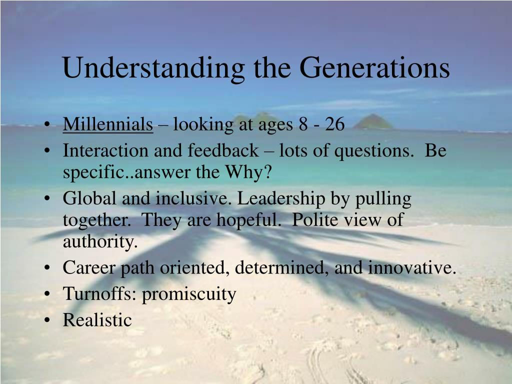 Understanding the Generations