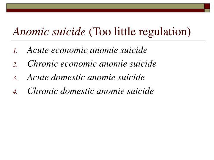 Anomic suicide