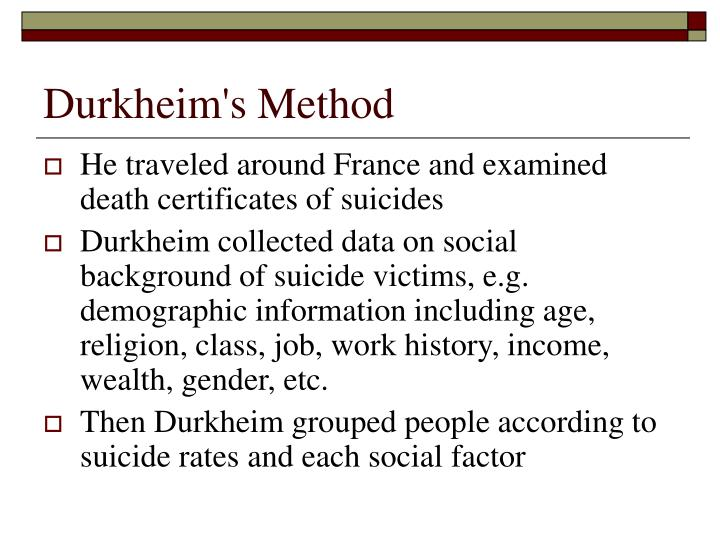 Durkheim's Method