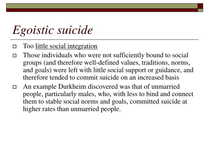 Egoistic suicide