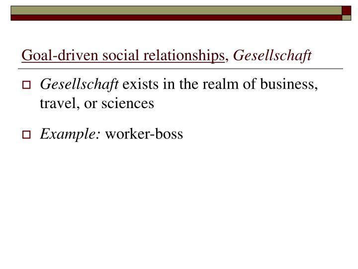 Goal-driven social relationships