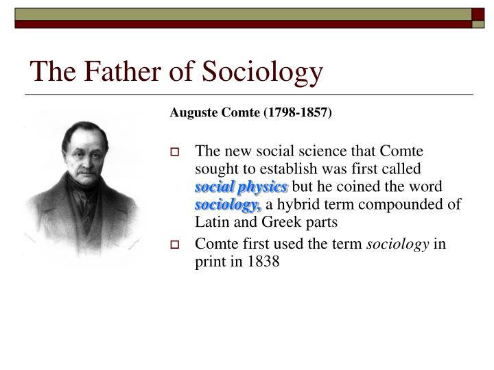 The Father of Sociology