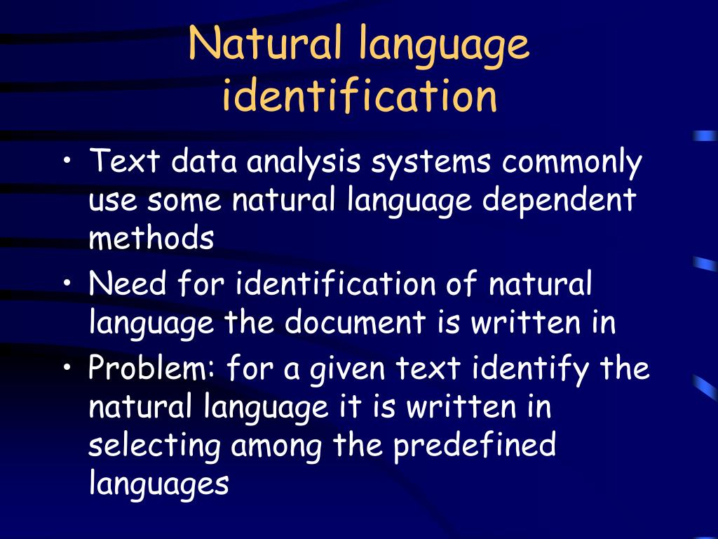 Natural language identification