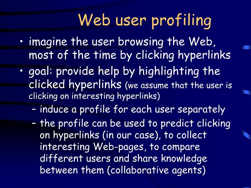 Web user profiling
