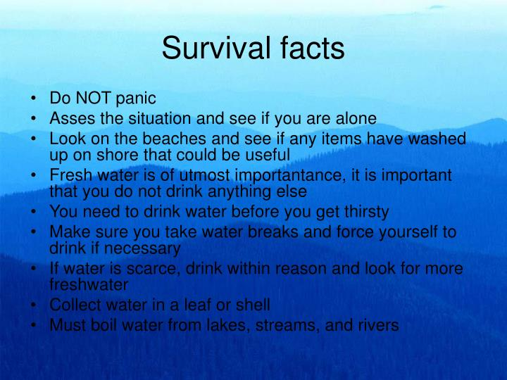 Survival facts