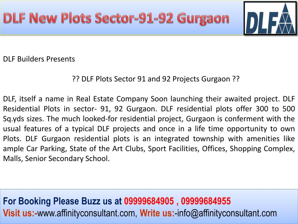 DLF New Plots Sector-91-92 Gurgaon