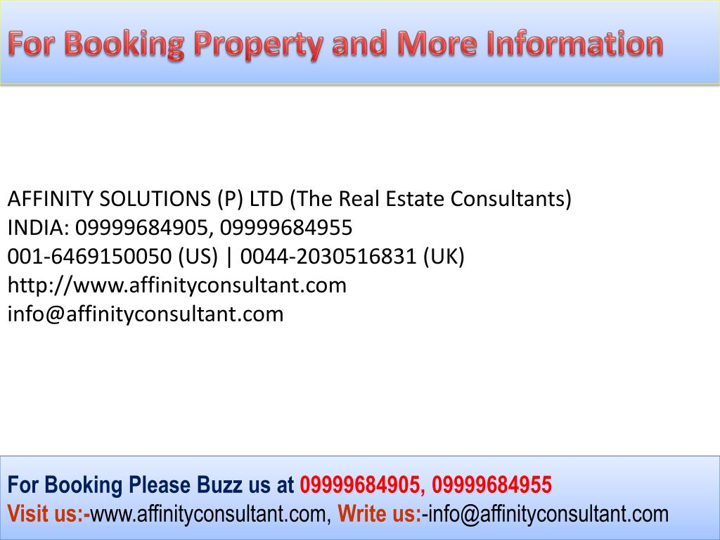 For Booking Property and More Information