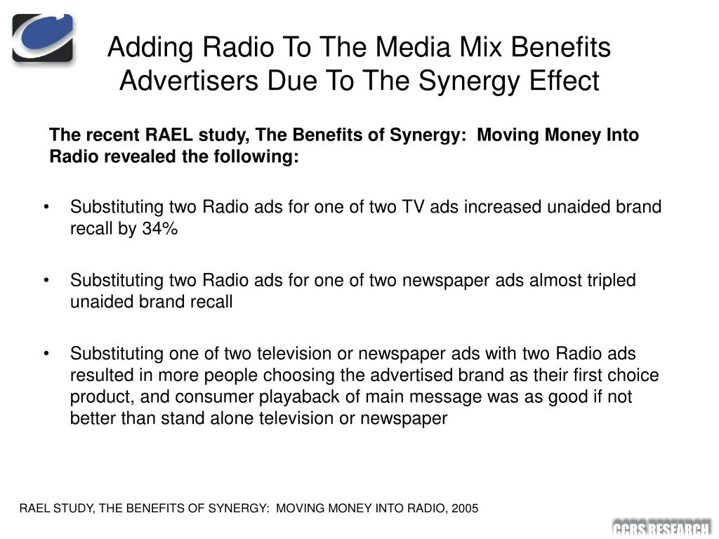 Adding Radio To The Media Mix Benefits