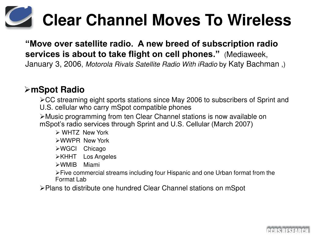 Clear Channel Moves To Wireless