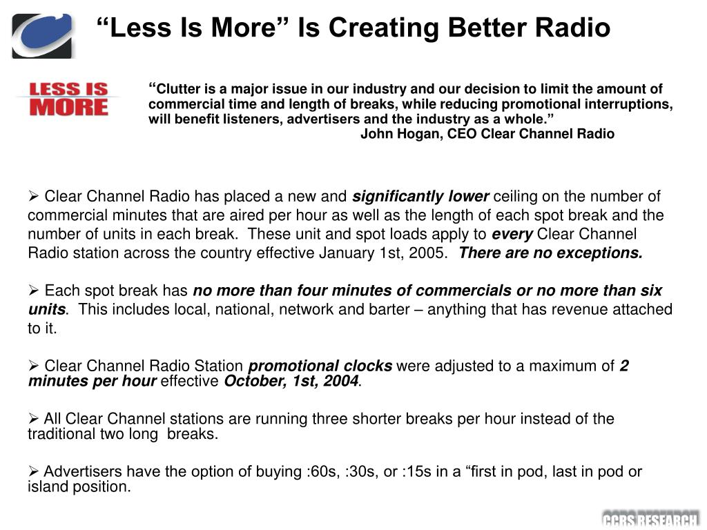 """Less Is More"" Is Creating Better Radio"