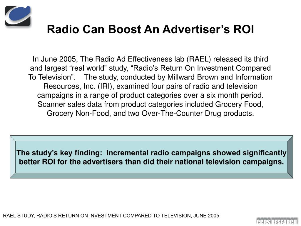 Radio Can Boost An Advertiser's ROI