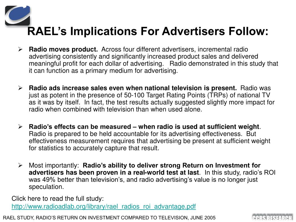 RAEL's Implications For Advertisers Follow: